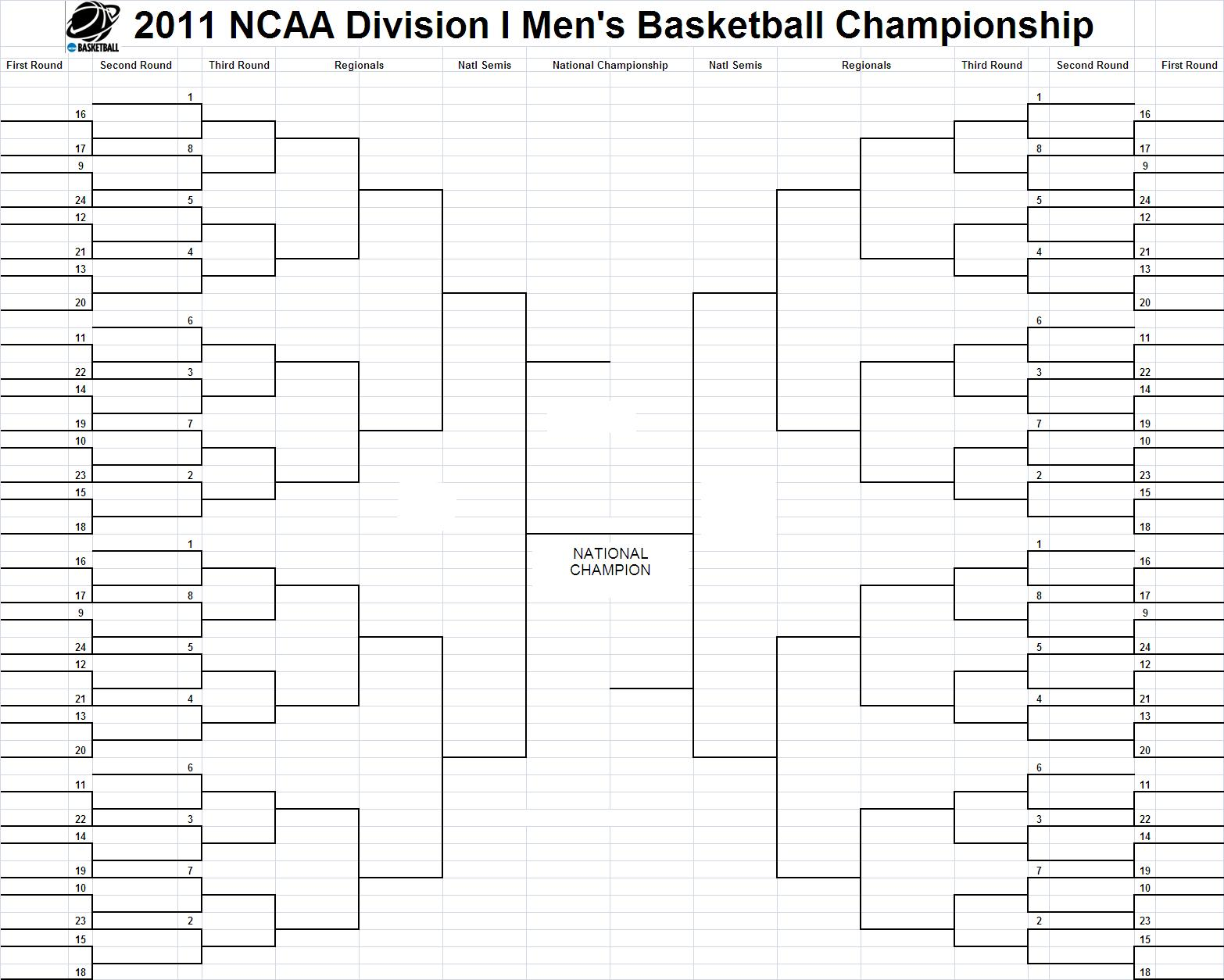 blank march madness bracket template - music is my soul download ncaa men 39 s 2011 men 39 s