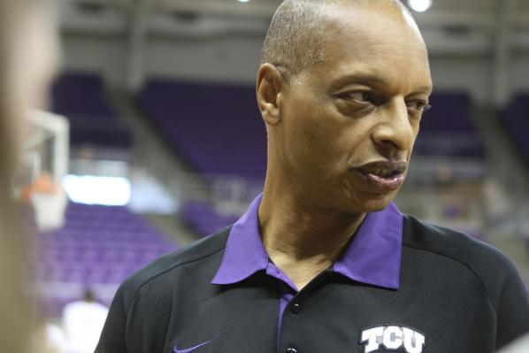 Trent Johnson loves the color purple. (TCU360.com)