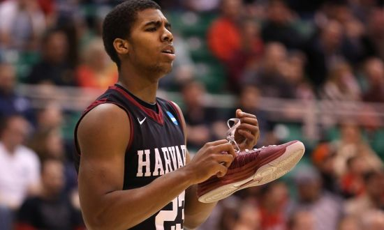 Harvard was down a man in Wesley Sanders and couldn't quite upset UConn. (Getty)