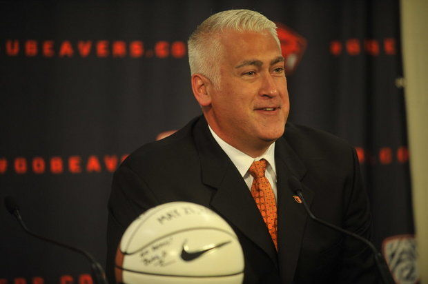 Wayne Tinkle inherited a depleted Oregon State roster that lost its top five scorers from last season. (Stephanie Yao Long, The Oregonian)