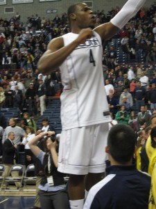 Adrien celebrating with the students