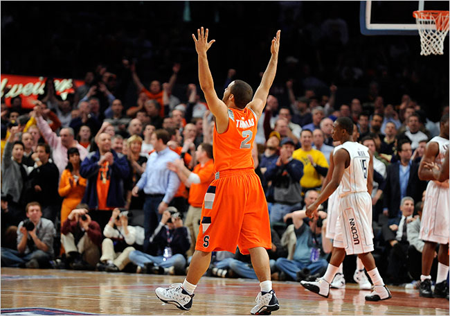 After 70 Mins of Action, Syracuse Moves On (photo credit: NYT)