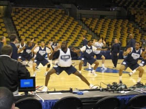 Villanova going through their drills