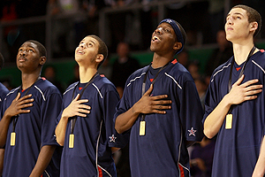 Sing it proud, guys.  (Credit:  usabasketball.com)