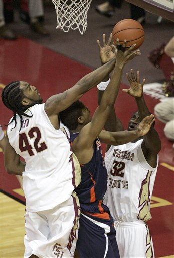 Alabi (right) Brought His Game Tonight (AP/Steve Cannon)