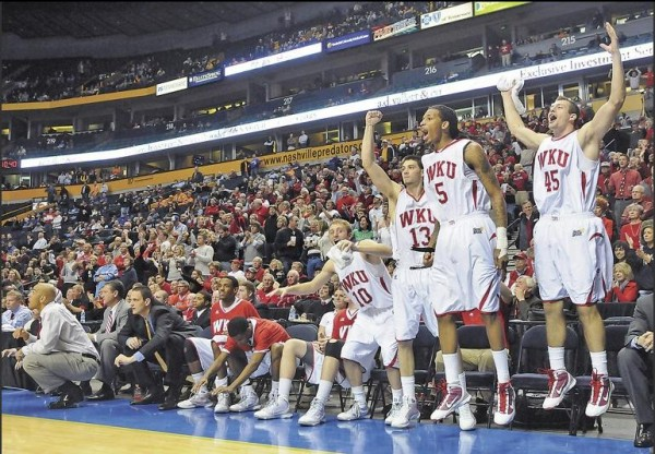 WKU Had a Lot to Celebrate Tonight (Joe Imel/BG Daily News)