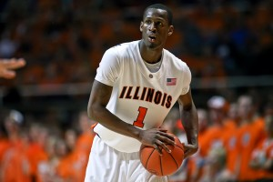 It's been a tough stretch for DJ Richardson and the Illini