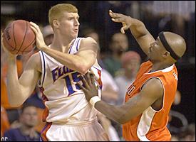 SHSU may have gone down to UF in the first round in 2003...but they were there.  (AP)