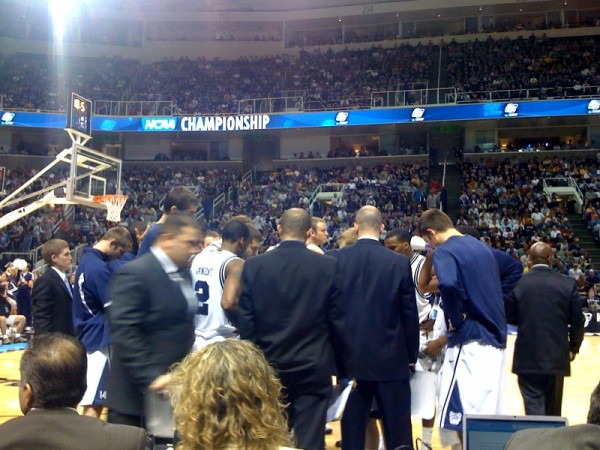 Butler Huddle Before the Last Play