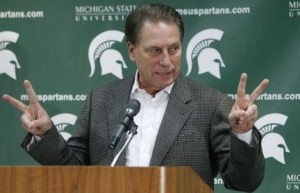 We only picked against you three times, Coach Izzo. And we're sorry.  (AP/Al Goldis)