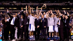 Duke -- your champs in both basketball, and spending on basketball.
