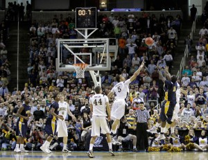 Murray State's Danero Thomas says the T.O. did not help Vandy.  (MJ Sanchez/AP)