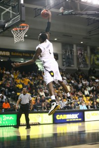 Larry Sanders brought the CAA a ton of pub last season, but skipped his senior season to go pro. (VCUAthletics.tv)