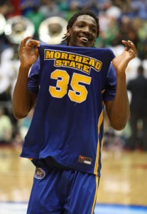 Kenneth Faried had everyone looking at Morehead State after they upset Louisville in the NCAA Tournament.