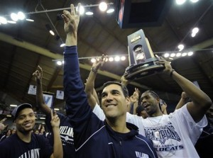 Jay Wright has Villanova in the driver's seat, with Pittsburgh nipping at the Wildcats' heals. (AP/Michael Perez)