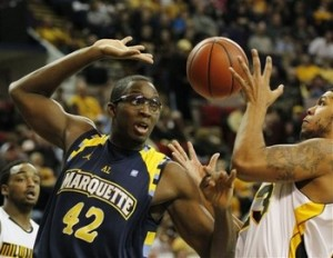 Chris Otule (in goggles) Was Outed as Having One Eye Last Week (AP)