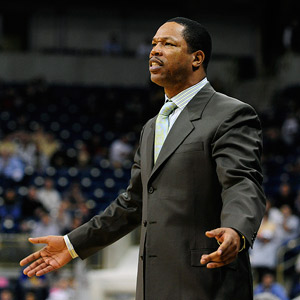 The coach now at Binghamton, Macon is trying to impart his old coach's ways on a new generation.