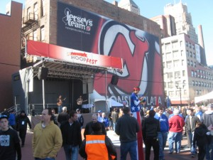 The Prudential Center. Both sessions saw crowds in excess of 18,000. It just wasn't the numbers that made the experience great. The arena afforded spectactular site lines and provided the stage for a wonderful atmosphere. The drama and intensity of both Kentucky games helped a bit as well.