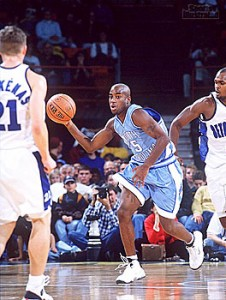 Point guard Ed Cota fueled North Carolina's unlikely run to the Final Four in 2000.