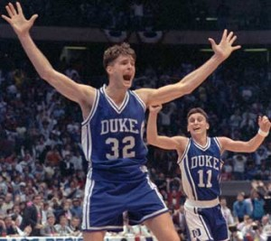 Christian Laettner foreshadowed his later heroics with a game-winner vs. UCONN.
