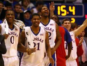 KU's frontline of the Morris twins and Thomas Robinson evolved into a strength, and KU struggled most when they weren't utilized on offense. (AP/Jamie Squire)