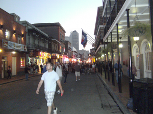 The Edge Of the French Quarter; Note the Crowd In the Distance And the Fact That There's Still Daylight Left