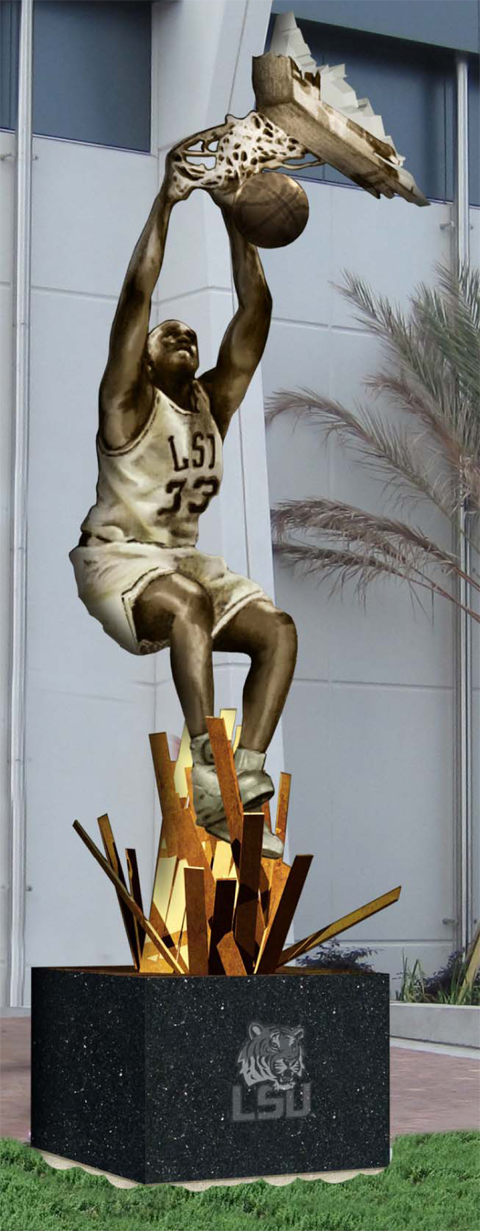 Shaquille O'Neal Lakers Staples Center Replica Statue in ... |Shaquille Oneal Statue