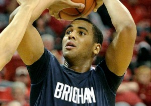 Brandon Davies, if Reinstated by BYU, is an X-Factor for the Cougars in 2011-12 (Getty/E. Miller)