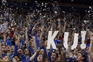 Kansas's Student Section, Only 9 Hours Before Tip-Off.