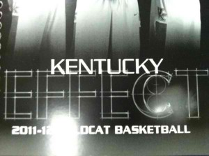 A photo of the 2011-12 UK Basketball Media Guide. Look closely within the letter C. Don't move until you see it.