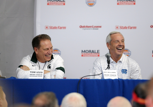 Roy Williams got the last laugh Wednesday night against Tom Izzo and Michigan State
