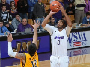 It's Tough To Find Anyone Who's Stroking The Three Better Than James Madison's A.J. Davis. (CAASports.com)
