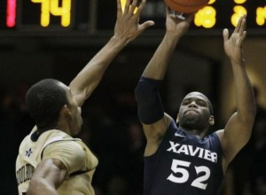 Xavier's Tu Holloway Shot His Team Past Vanderbilt on Monday Night (Credit: Mark Humphrey, AP)