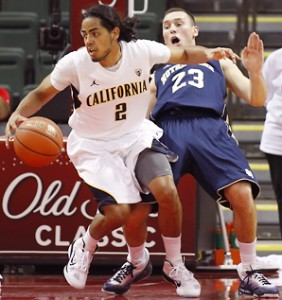 California guard Jorge Gutierrez led the Bears with 11 points against Missouri (credit: Ray Carlin).