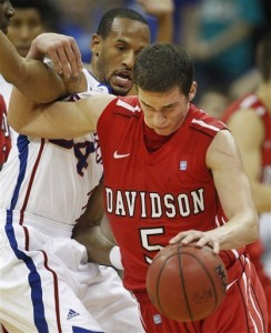Davidson Controlled the Game Against Kansas on Monday (AP/O. Wagner)