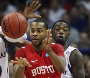 BU's Darryl Partin is one of the Country's Leading Scorers (photo courtesy of Michael Thomas, Boston Herald)