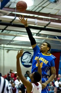 Delaware's Jamelle Hagins Demands Attention On Both Ends Of The Floor. (BlueHens.com)