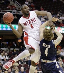 Miami of Ohio's Julian Mavunga is Off to a Tremendous Start This Season/AP-Amy Sancetta)
