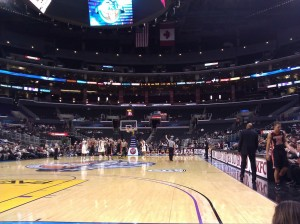 A Nearly Empty Staples Center Has Become An All Too Familar Sight For The Pac-12 Tournament (photo credit: Chris Fetters, Dawgman.com)