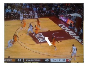 Tennessee's poor perimeter defense puts them in a bad situation
