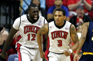 Anthony Marshall, Brice Massamba And The Rest Of The Runnin' Rebels Notched A Big Win Over Illinois This Past Weekend (photo credit: Sam Morris, Las Vegas Sun)