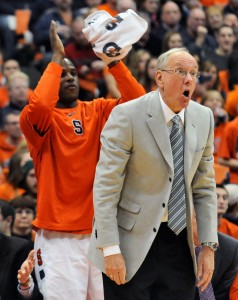 Ask The Never-Satisfied Jim Boeheim What He Thinks About His Team's Chances At An Undefeated Record, And This Will Be His Likely Reaction. (Dennis Nett/Syracuse Post-Standard)