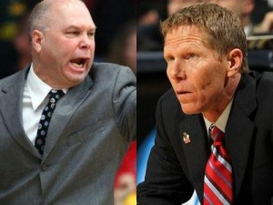 Randy Bennett (left) and Mark Few, Two Of The Premier Coaches In The Country, Will Go At It Again Thursday Night In Moraga