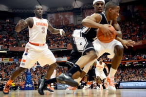 Syracuse's Pressure was Too Much for the Council-less Friars (Photo by Frank Ordonez, The Post-Standard)