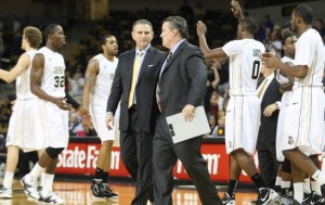 Head Coach Donnie Jones (left) Hit A Bump In The Road When Keith Clanton And Marcus Jordan Decided To Leave The Knights.
