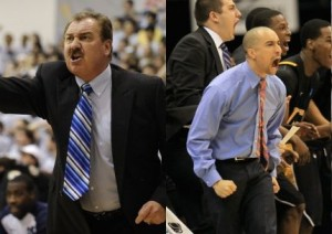 ODU (led by coach Blaine Taylor) and VCU (Shaka Smart, right) Get Together On Saturday