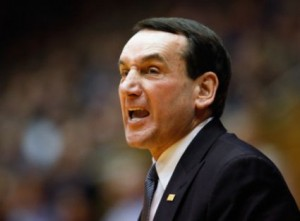 Mike Krzyzewski And Duke Took One On The Chin Over The Weekend (AP)