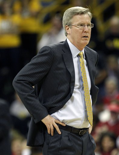 Fran McCaffery's Hawkeyes needed the win against Northwestern to avoid an 0-4 start in conference play. (AP/C. Neibergall)
