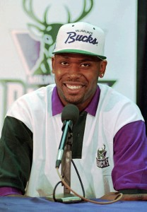 The Bucks made Robinson the first pick in the 1994 NBA Draft.