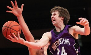 John Shurna gave it a good shot, but couldn't lead Northwestern to it first-ever NCAA Tournament. (Anthony Gruppuso / US Presswire)